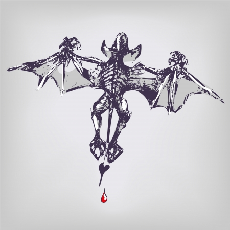 technical term: Drawing vampire and bat Illustration