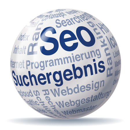 backlinks: Results and seo sphere Illustration