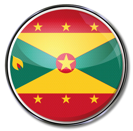Button Grenada  Vector