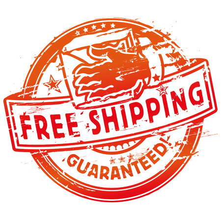 package deliverer: Rubber stamp free shipping