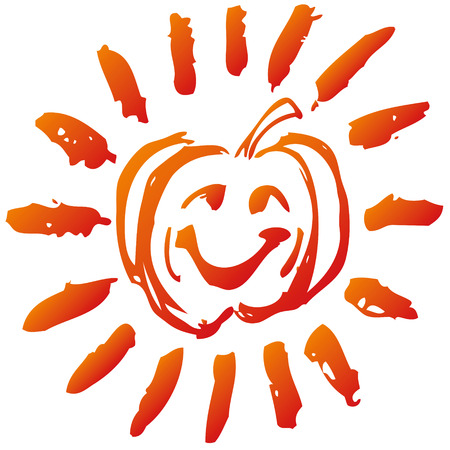 Little funny pumpkin Stock Vector - 22644828