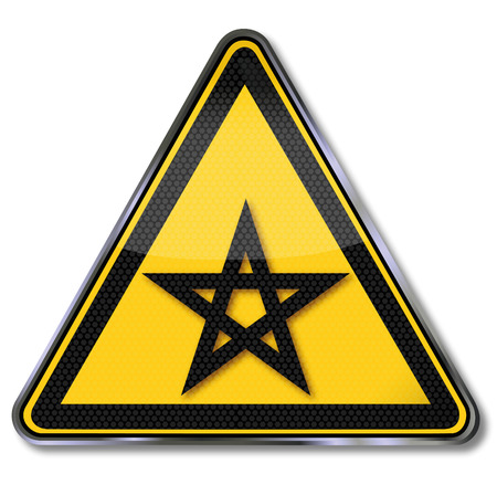 Sign five-pointed star and pentagram Stock Vector - 22644831