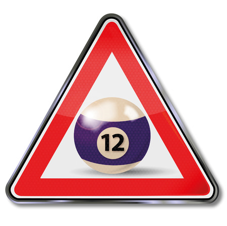 fortunately: Sign billiard ball number 12