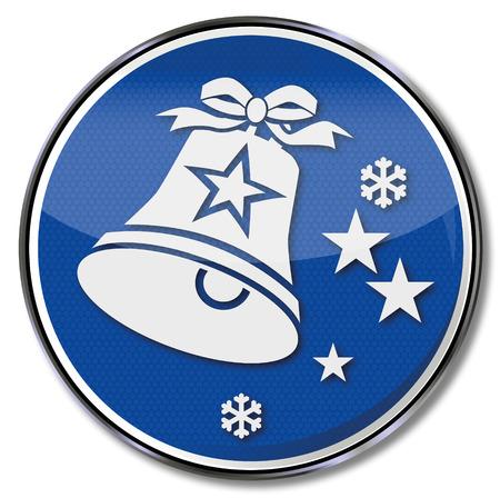 Sign small christmas bell Ilustração
