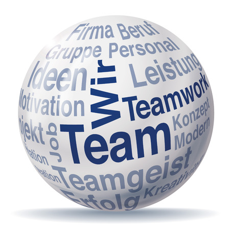 exempted: Teamwork and team sphere Illustration