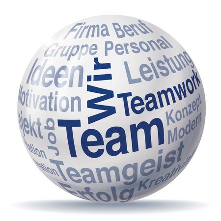 treatise: Teamwork and team sphere Illustration
