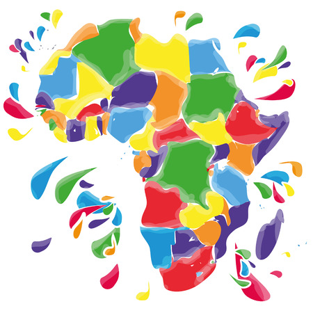 Stains and blots with Africa Vector