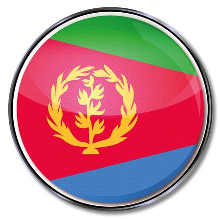 eritrea: Button Eritrea Illustration