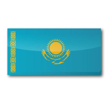 landlocked country: Bandera de Kazajist�n Vectores