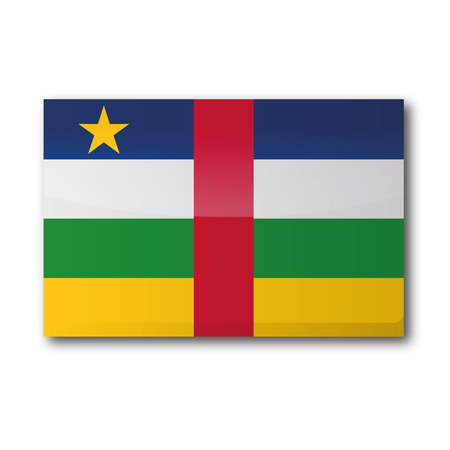 landlocked country: Flag �frica central Vectores
