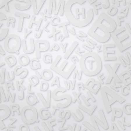 Letters on white surface