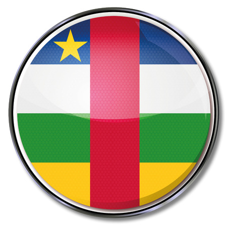 central african republic: Button Central African Republic Illustration