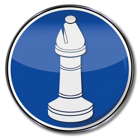bishop: Sign chess piece bishop