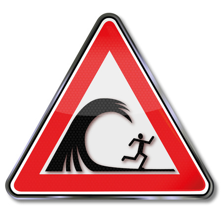 dike: Warning sign riptide