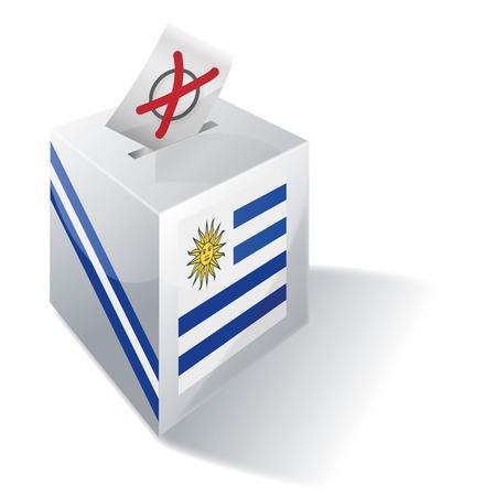 liberals: Ballot box Uruguay Illustration