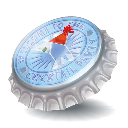Bottle cap and cocktail party Stock Vector - 23124576