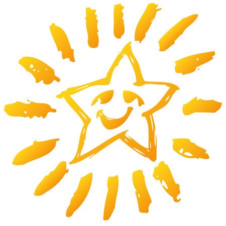 Kleine lachende ster Stock Illustratie