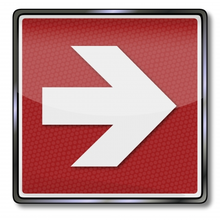 Fire safety sign right arrow Vector