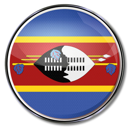 swaziland: Button Swaziland Illustration