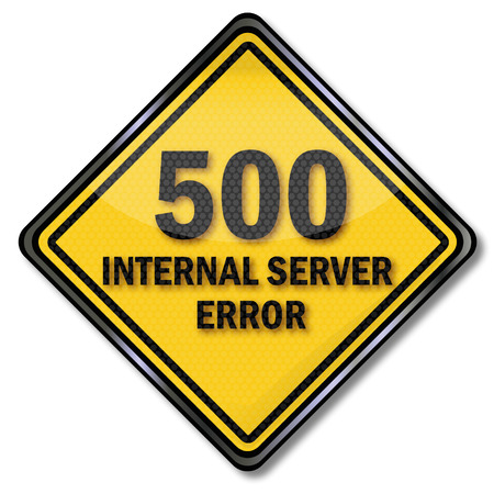 Computer sign 500 internal server error Vector