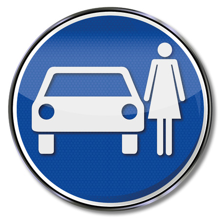 Traffic sign only parking for woman Vector