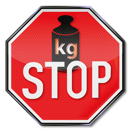 lose weight: Stop sign no weight gain