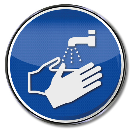 Obowiązkowy znak należy zawsze umyć ręce Ilustracje wektorowe