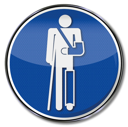 Sign man with plaster bandage Vector
