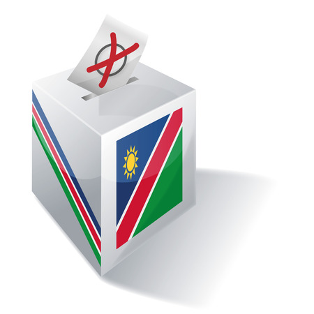 absentee: Ballot box Namibia Illustration