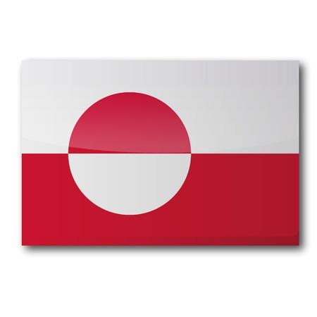 esquimales: Bandera de Groenlandia