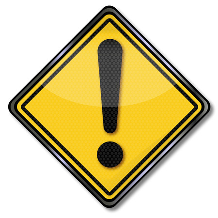 Sign yellow call and exclamation mark Illustration