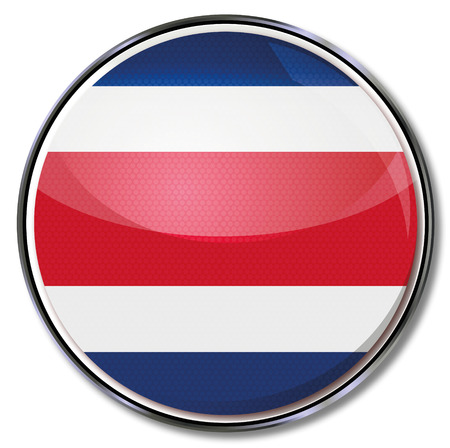 Button Costa Rica Vector