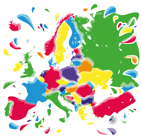 inkblots: Stains and blots with Europe Illustration