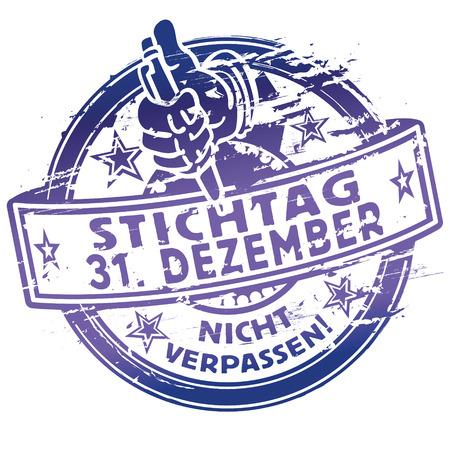 31: Rubber stamp date December 31