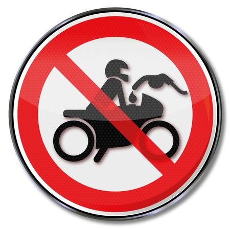 filler: Se�al de prohibici�n alimentando el motor en marcha Vectores