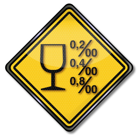 Sign alcohol limits and alcoholism Vector