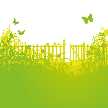 zomertuin: Tuinhek en open poorten