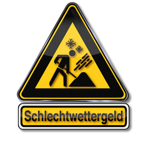 Danger sign bad weather money Stock Vector - 24028463