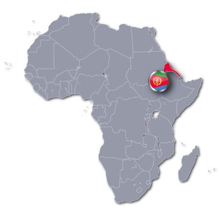 eritrea: Africa map with Eritrea Stock Photo