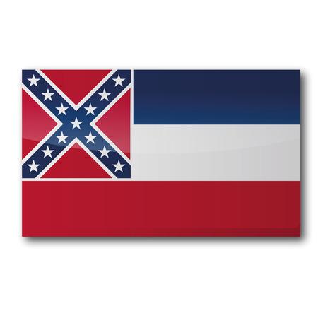 mississippi river: Flag Mississippi