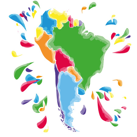 map of argentina: Stains and blots with South America