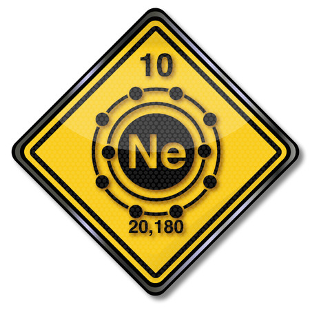 melting point: Sign chemistry character neon