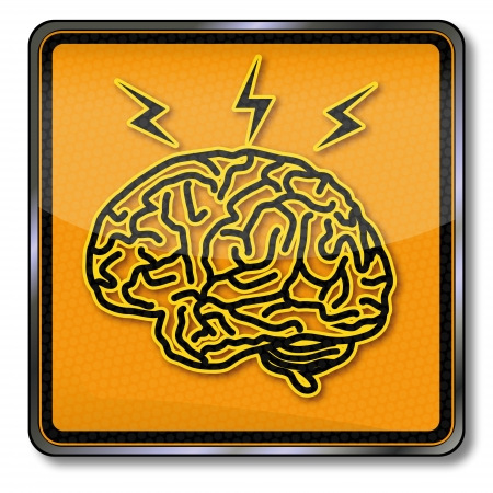 electrically: Sign brain, inspiration and headache Illustration