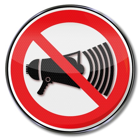 dissatisfaction: Prohibition sign with megaphone