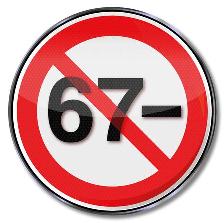 pensioen: Teken geen pensioen onder 67 jaar Stock Illustratie