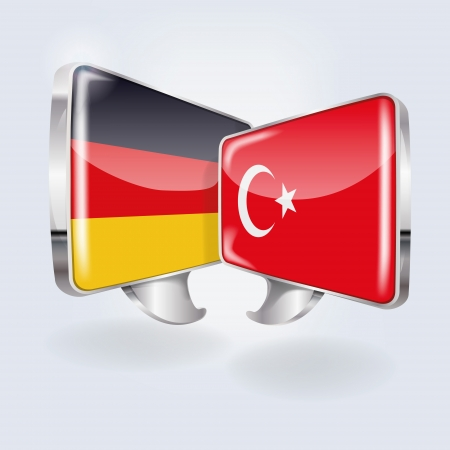 foreign policy: Bubbles and speech in German and Turkish