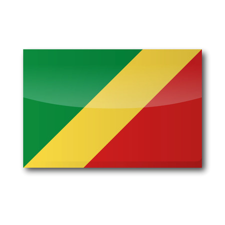 Flag democratic Republic Congo Vector