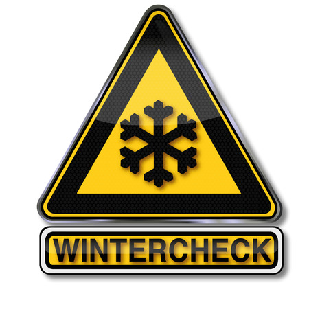 Sign winter check Vector