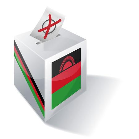 ballot box: Ballot box Malawi Illustration