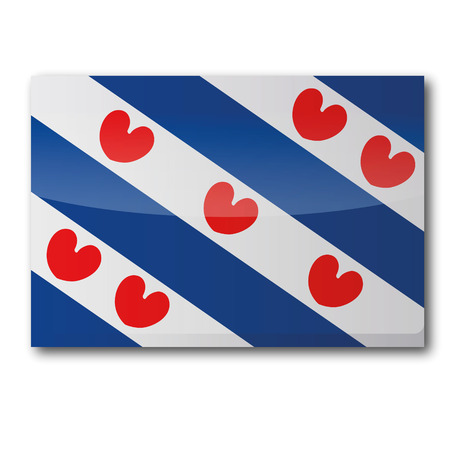 Flag Friesland Illustration